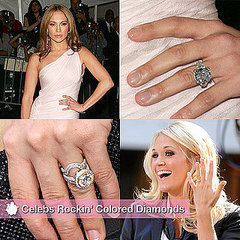 Celebrities Colored Diamond Rings