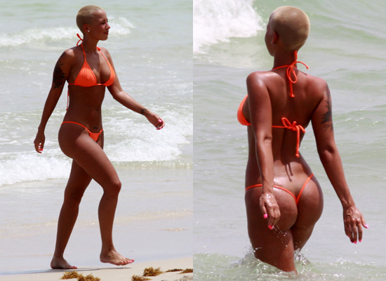 amber rose beach. Amber Rose on the Beach in an